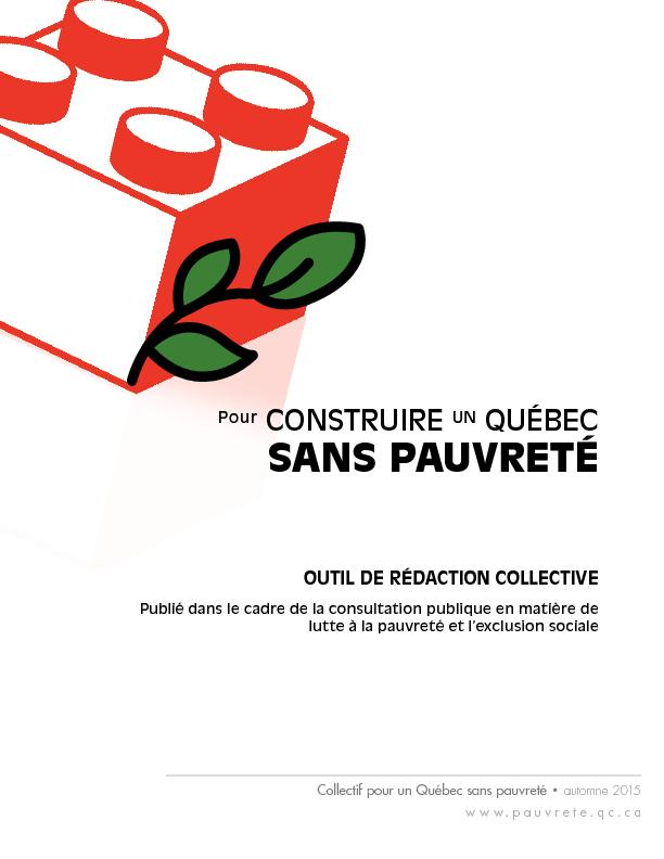 Outil de rédaction collective: Pour construire un Québec sans pauvreté