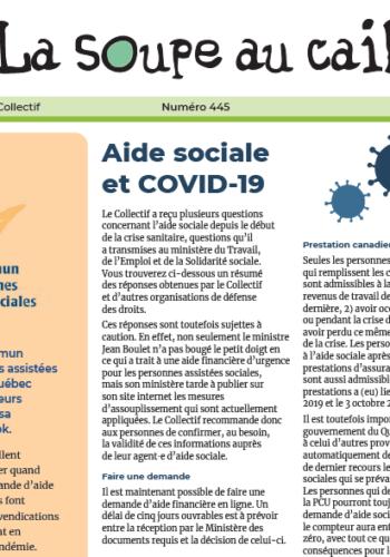 Aide sociale et COVID-19