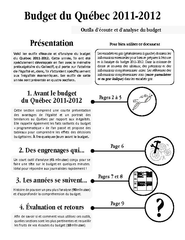 Outils d'écoute et d'analyse du budget