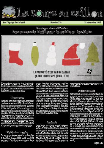 Des cartes de Noël pour le public et les éluEs