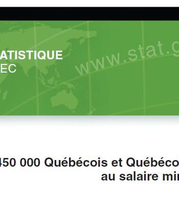 Plus de 450 000 Québécois et Québécoises sont rémunérés au salaire minimum… ou presque