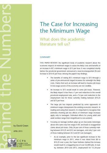 Des arguments pour une hausse du salaire minimum: qu'en disent les études?