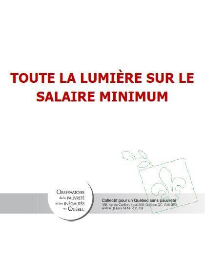 Toute la lumière sur le salaire minimum