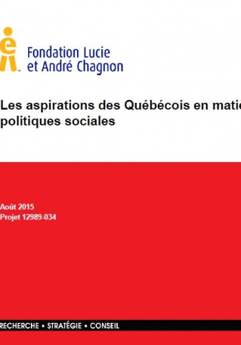 Les aspirations des Québécois en matière de politiques sociales