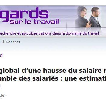 L'impact global d'une hausse du salaire minimum sur l'ensemble des salariés: une estimation pour le Québec