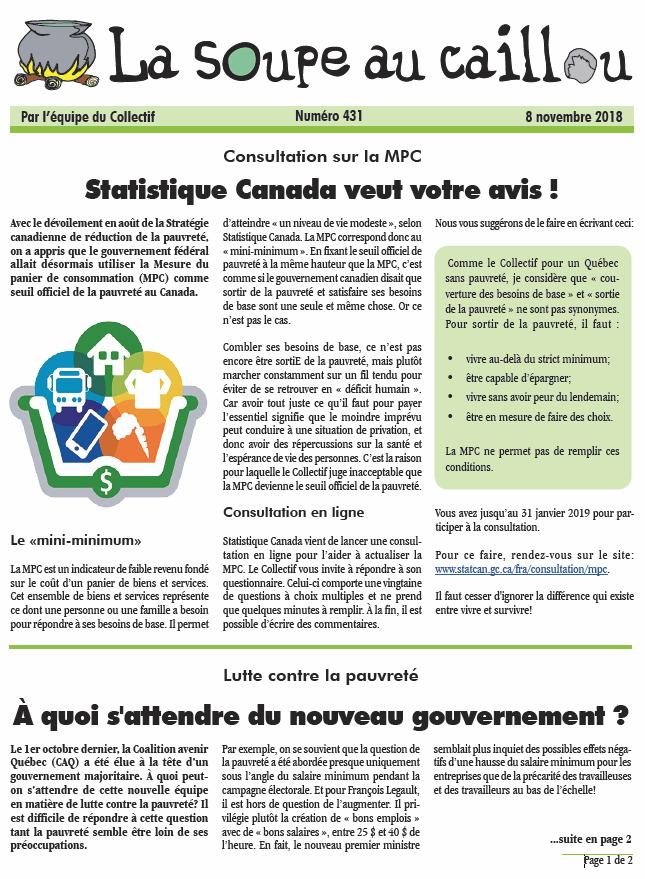 Consultation sur la MPC: Statistique Canada veut votre avis !