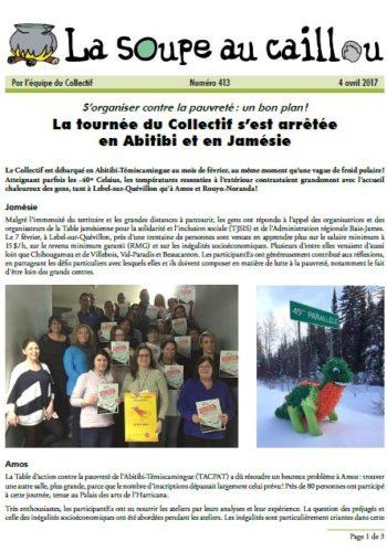 La tournée du Collectif s'est arrêtée en Abitibi et en Jamésie