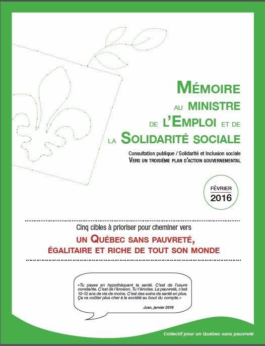Cinq cibles à prioriser pour cheminer vers un Québec sans pauvreté, égalitaire et riche de tout son monde