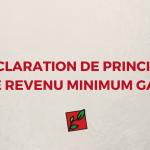 DÉCLARATION DE PRINCIPES SUR LE REVENU MINIMUM GARANTI