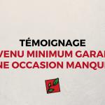 DÉCLARATION DE PRINCIPES SUR LE REVENU MINIMUM GARANTI (6)