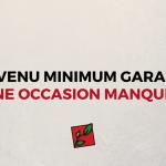 DÉCLARATION DE PRINCIPES SUR LE REVENU MINIMUM GARANTI (8)