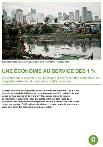 Une économie au service du 1 %