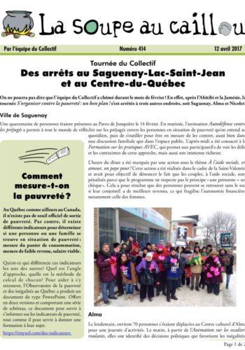 La tournée au Saguenay-Lac-Saint-Jean et dans le Centre-du-Québec