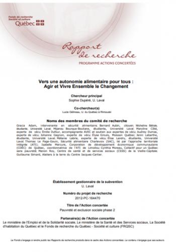 Vers l'autonomie alimentaire pour touTEs : agir et vivre ensemble le changement (VAATAVEC)