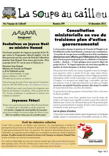 Consultation ministérielle en vue du troisième plan d'action gouvernemental
